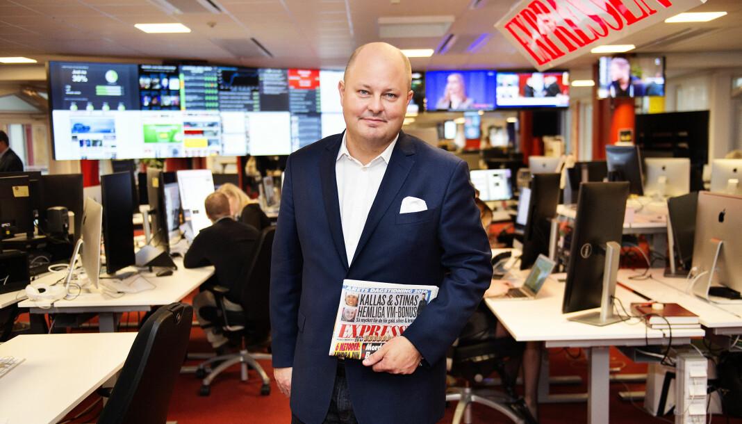 Tidligere sjefredaktør Thomas Mattsson på plass i Expressen-redaksjonen. Foto: Anna-Karin Nilsson / Expressen