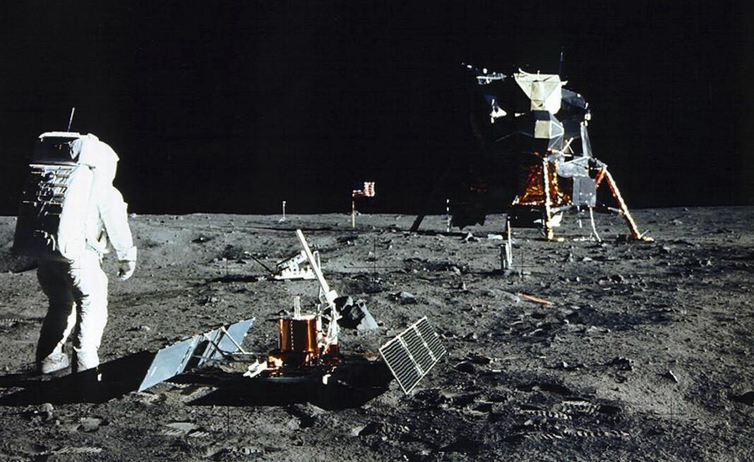 De kornete TV-bildene fra månelandingen i 1969 er blitt en del av verdens kollektive hukommelse. Arkivfoto: NASA / Reuters / NTB scanpix