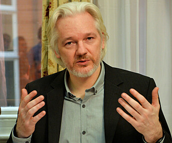 Julian Assange fotografert i Ecuadors ambassade i London i august 2014.
