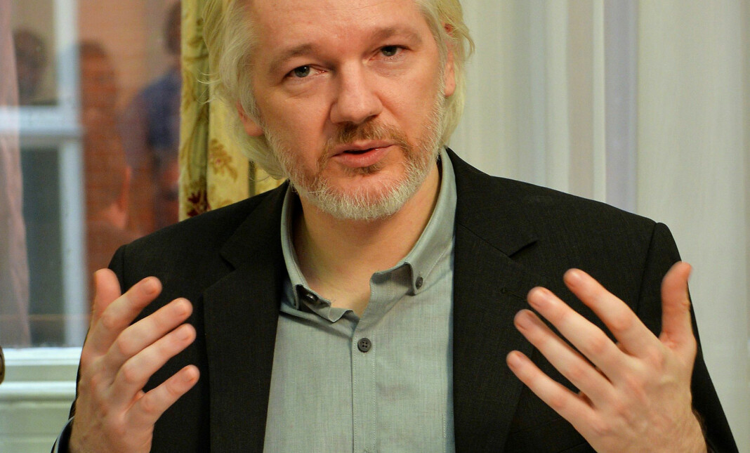 Julian Assange fotografert i Ecuadors ambassade i London i august 2014. Foto: Reuters / NTB scanpix