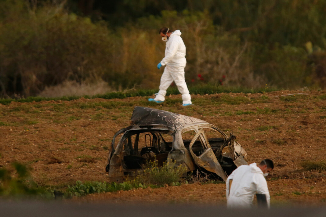 Journalist Daphne Caruana ble drept av en bilbombe i desember i 2017. Arkivfoto: Reuters / NTB scanpix