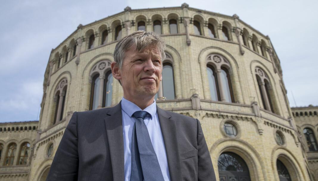 Sivilombudsmann Aage Thor Falkanger kritiserer SMK for hvordan de håndterte hans konklusjon om en innsynsbegjæring fra en journalist i Dagens Næringsliv. Foto: Ole Berg-Rusten / NTB Scanpix