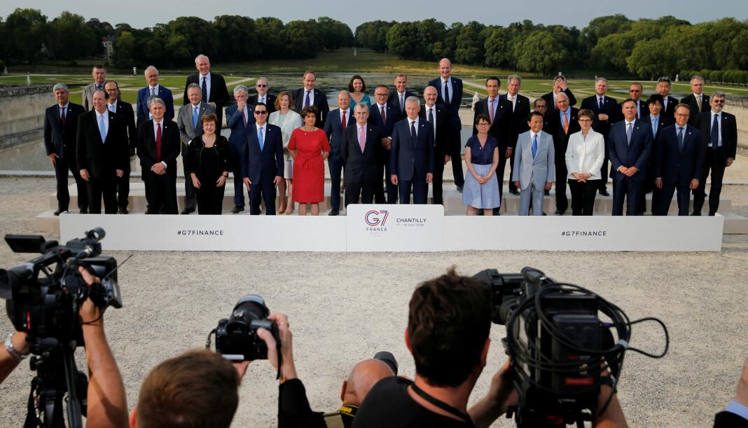 Finansministre fra G7-landene møtes denne uka i Chantilly i Frankrike for å forberede toppmøtet i Biarritz. Foto: Reuters / NTB scanpix