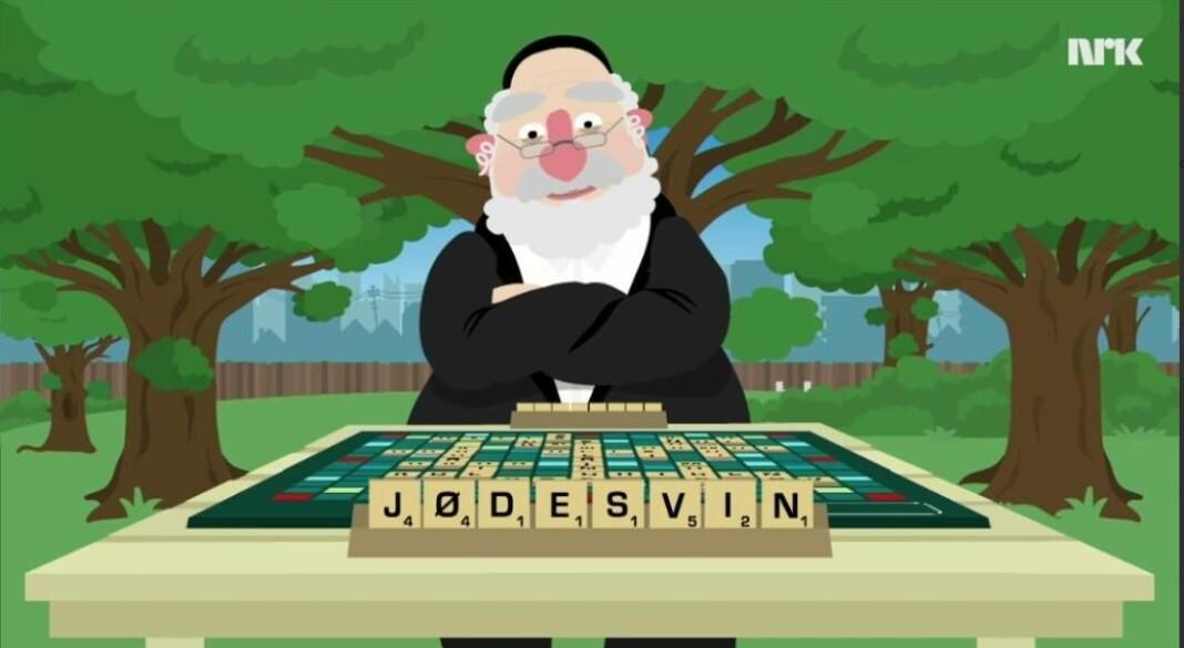 Denne sketsjen, «jødesvin», skaper kontroverser. Foto: Skjermdump fra NRK