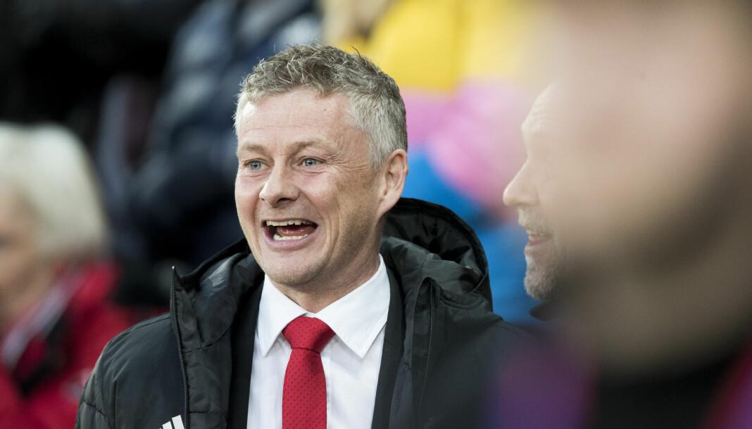 Ole Gunnar Solskjær fra kampen mellom Manchester United og Barcelona tidligere i år. Foto: Terje Pedersen / NTB Scanpix