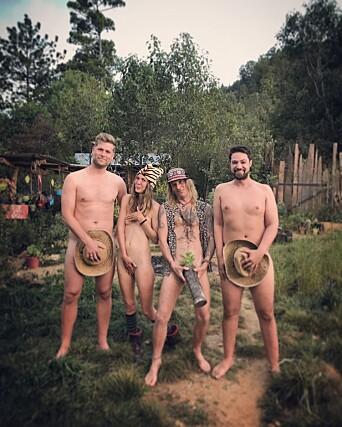 Mads A. Andersen, Tommy Hol Ellingsen, Leona Johansson og Kristoffer Kumar i Mexico. Foto: Turist