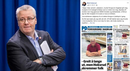 Forsøpler debatten ved å hevde at journalister i Norge driver valgkamp for et rødere Norge