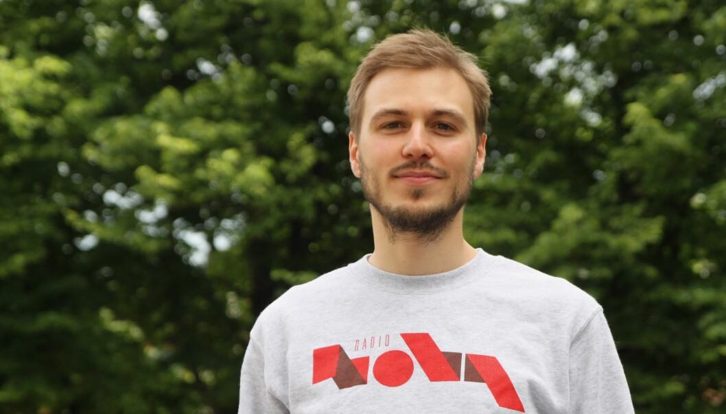 29-åringen Ådne Feiring er utdannet medieviter ved Universitetet i Oslo. Foto: Radio Nova