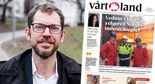 Får kritikk for PR-bilde på forsiden: – Politisk reklame forkledd som journalistikk