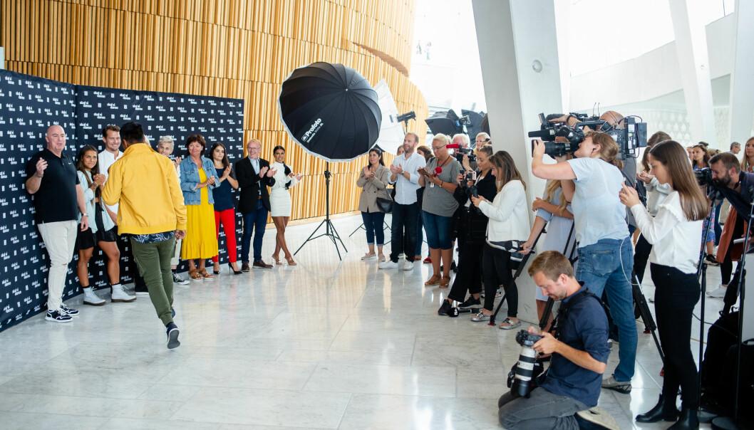 Det var mange fra pressen som møtte opp for å få med seg årets Skal vi danse-deltakere.