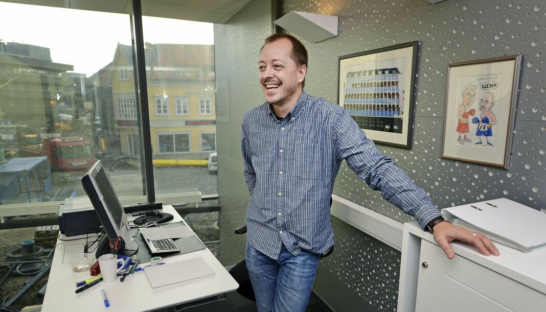 Etter at dette bildet ble tatt, har René Svendsen fått ny utsikt. 4. august startet han som nyhetsredaktør i Nettavisen. Geir A. Carlsson / Fredriksstad Blad