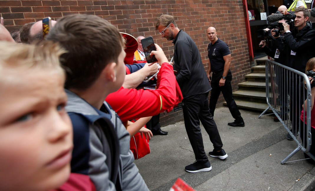 Jürgen Klopp og hans Liverpool innleder Premier League-sesongen mot Norwich fredag. Foto: Reuters / NTB scanpix.