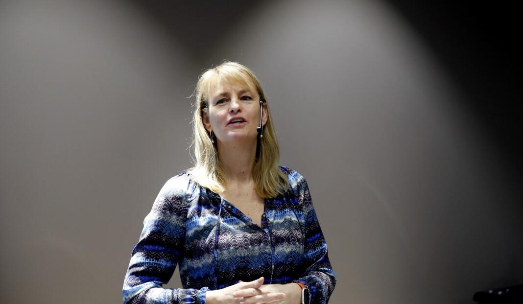 – Vi har lang tradisjon for å tilby gratis undervisningsopplegg på vegne av mediebransjen i forbindelse med valgene i Norge, sier MBL-sjef Randi S. Øgrey. Foto: Vidar Ruud / NTB scanpix