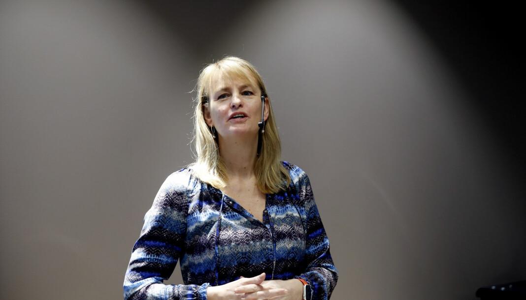 Administrerende direktør i MBL, Randi Øgrey, ber om 1 milliard kroner til mediebransjen under koronakrisen.