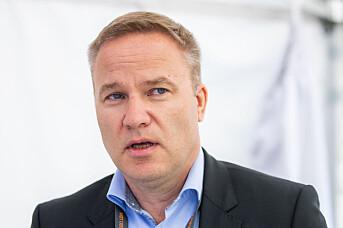 Resett-sjef Helge Lurås på standen til Ytringsfrihetsforbundet under Arendalsuka tirsdag. Foto: Håkon Mosvold Larsen / NTB scanpix