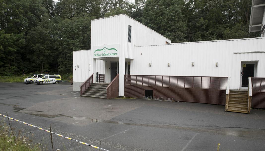 Menigheten i Al-Noor Islamic Centre i Bærum åpner moskeen på Skui for pressen lørdag. Foto: Terje Pedersen / NTB scanpix