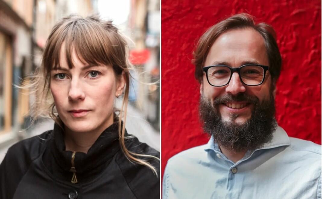 Klare for mer samarbeid: Anna Fröjd, sjefredaktør i svenske Expo, og Harald S. Klungtveit, ansvarlig redaktør i Filter Nyheter og Filter X. Foto: Expo/Filter Media