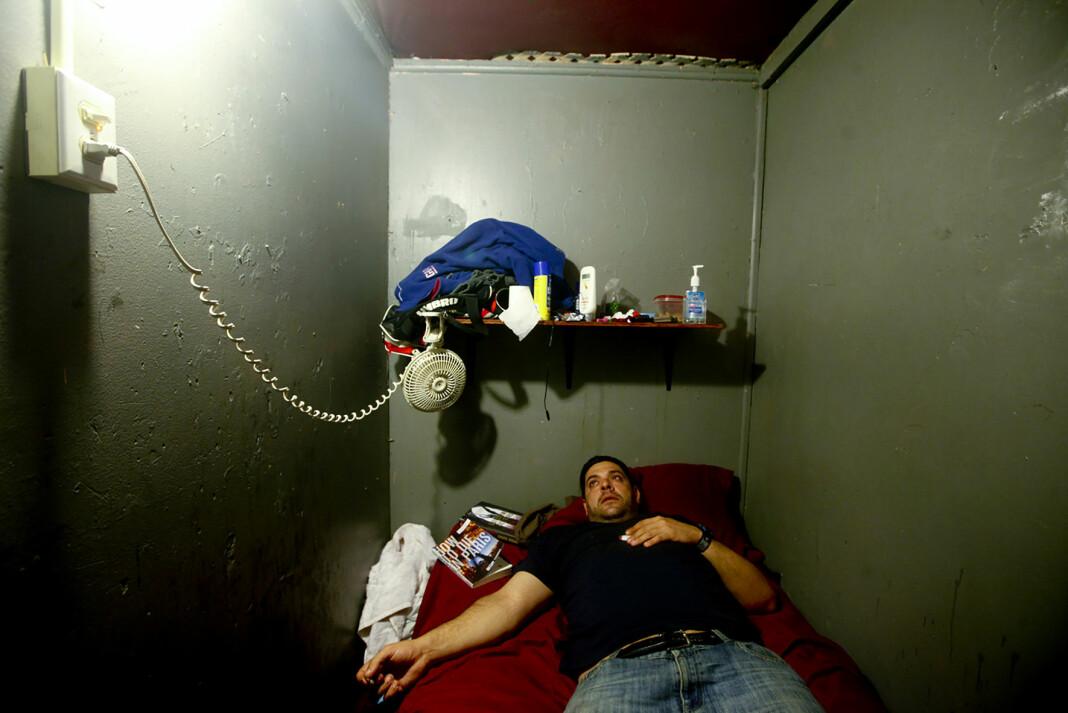 Ett av flere bilder i serien «Flophouse America», om de som velger å bo på billige amerikanske hotell på ubestemt tid. Dette bildet er nå utstilt på kunstsenteret Hennie Onstad og publisert i 2019-boken fra Norwegian Journal of Photography. Foto: Monica Strømdahl