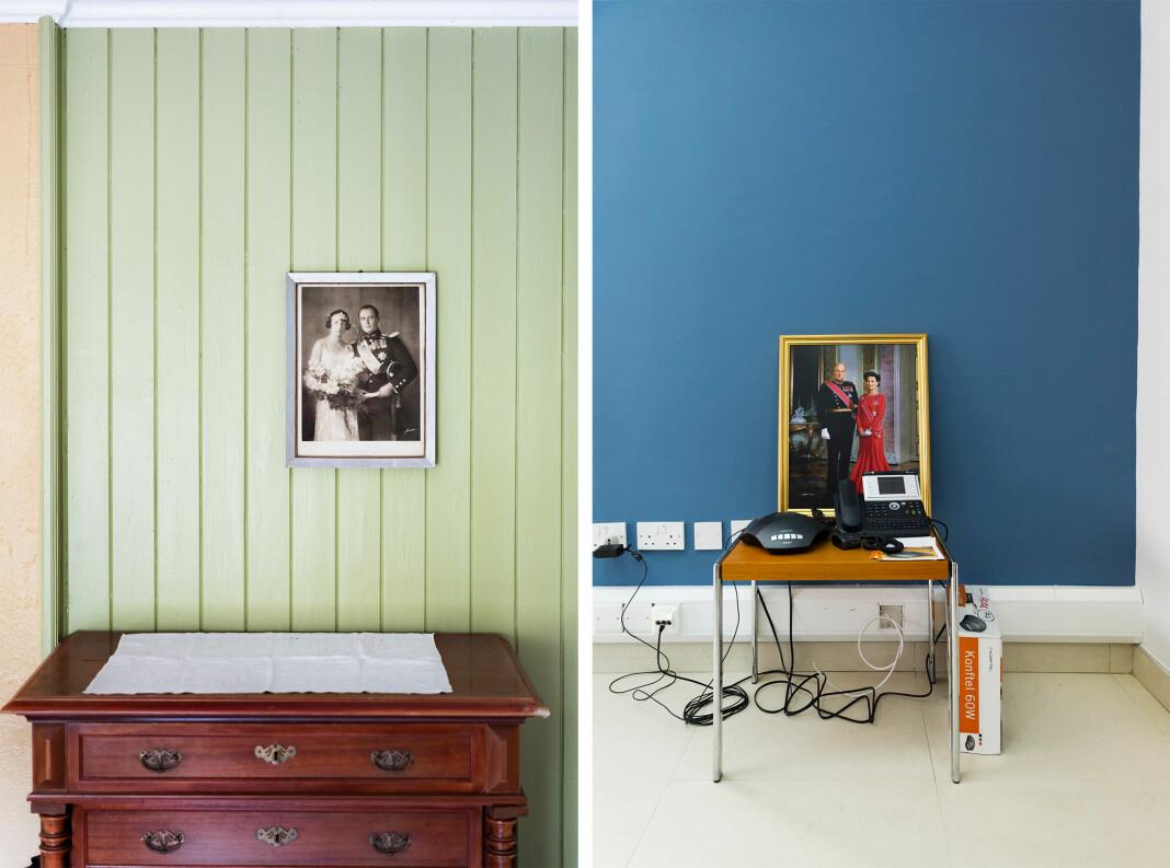 Dette er to av bildene i «Helt konge»-prosjektet som nå stilles ut på Henie Onstad Kunstsenter, samt publisert i siste utgave av Norwegian Journal of Photography. Foto: Elin Høyland