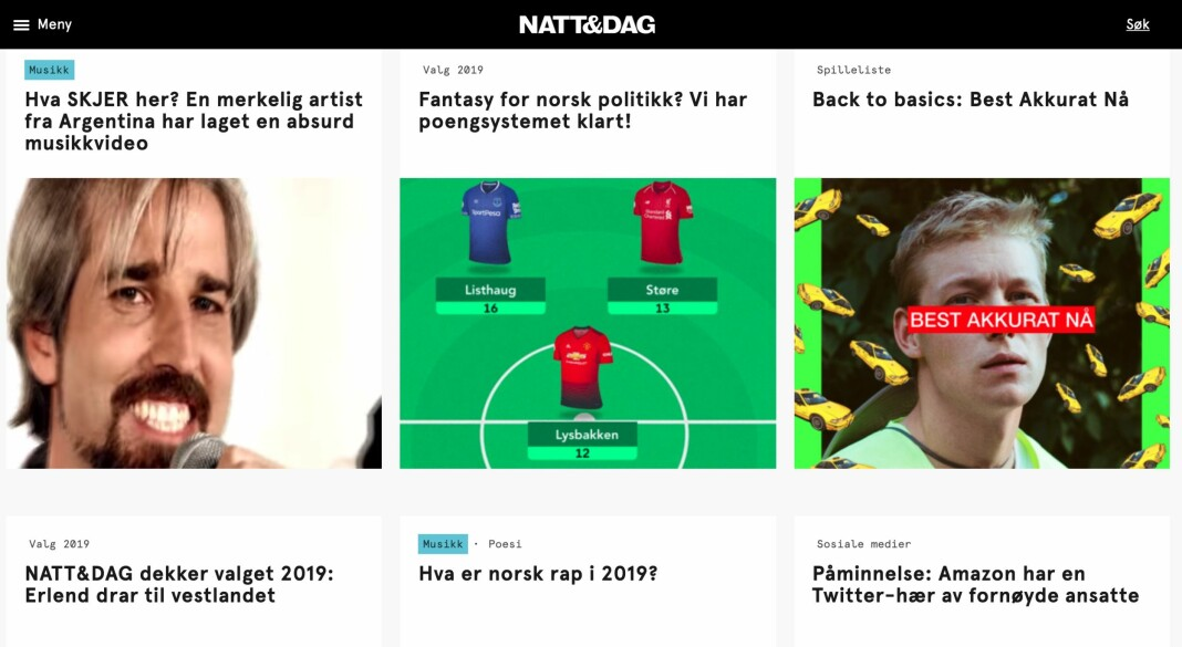 Kampanje melder at Venture Factory Media har kjøpt seg opp i Natt&Dag. Skjermdump nattogdag.no