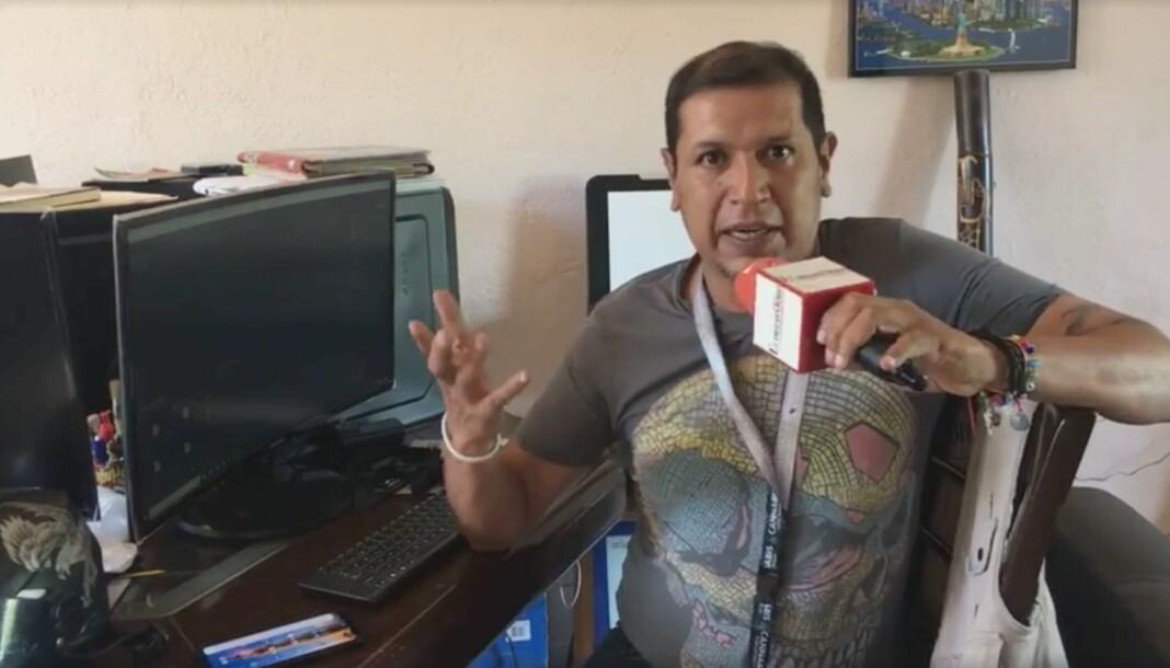 Den 42 år gamle journalisten Nevith Condes Jaramillo ble funnet død lørdag morgen med skader fra skarp gjenstand, ifølge mexicansk politi. Skjermdump fra Youtube