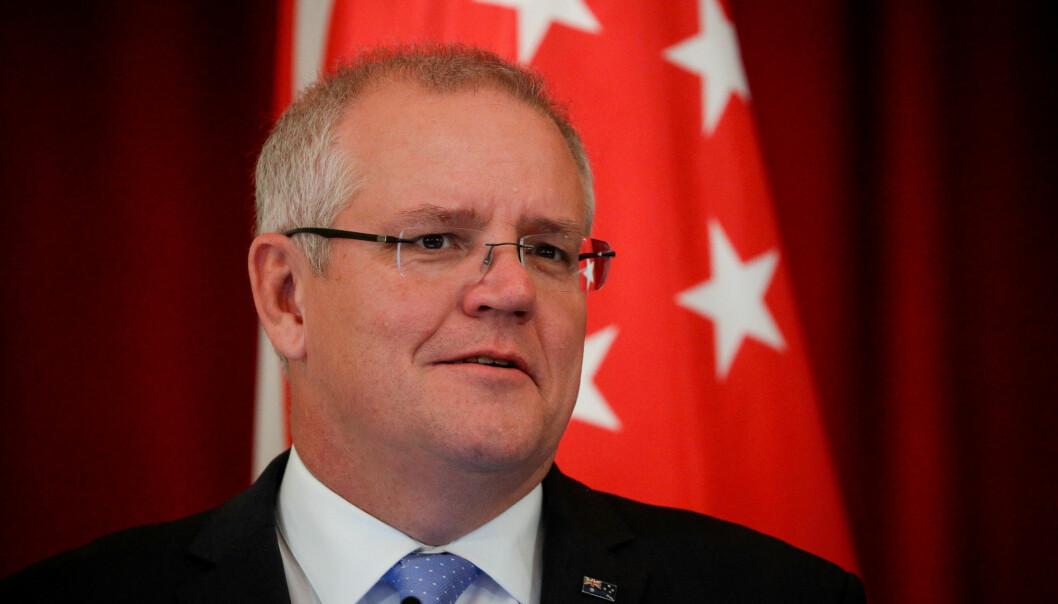 Australias statsminister Scott Morrison uttalte under G7-toppmøtet i Frankrike at tiltaket trengs for å kontre det digitale elementet i terrorangrep. Foto: Reuters / NTB scanpix