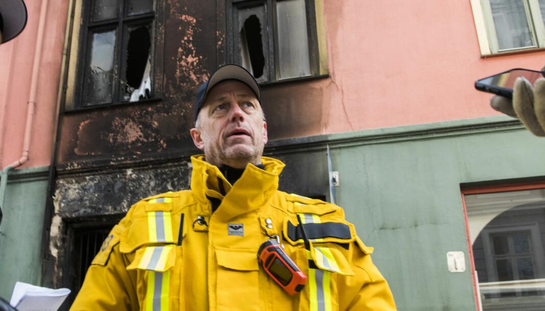 Brannmannen-redaktør Lars Brenden, her fra tiden som innsatsleder i Oslo brann- og redningsetat. Foto: NTB Scanpix