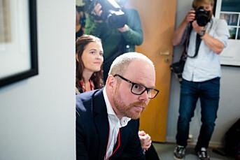 VG-sjef Gard Steiro ved PFU-behandlingen av Dansevideo-saken i fjor.