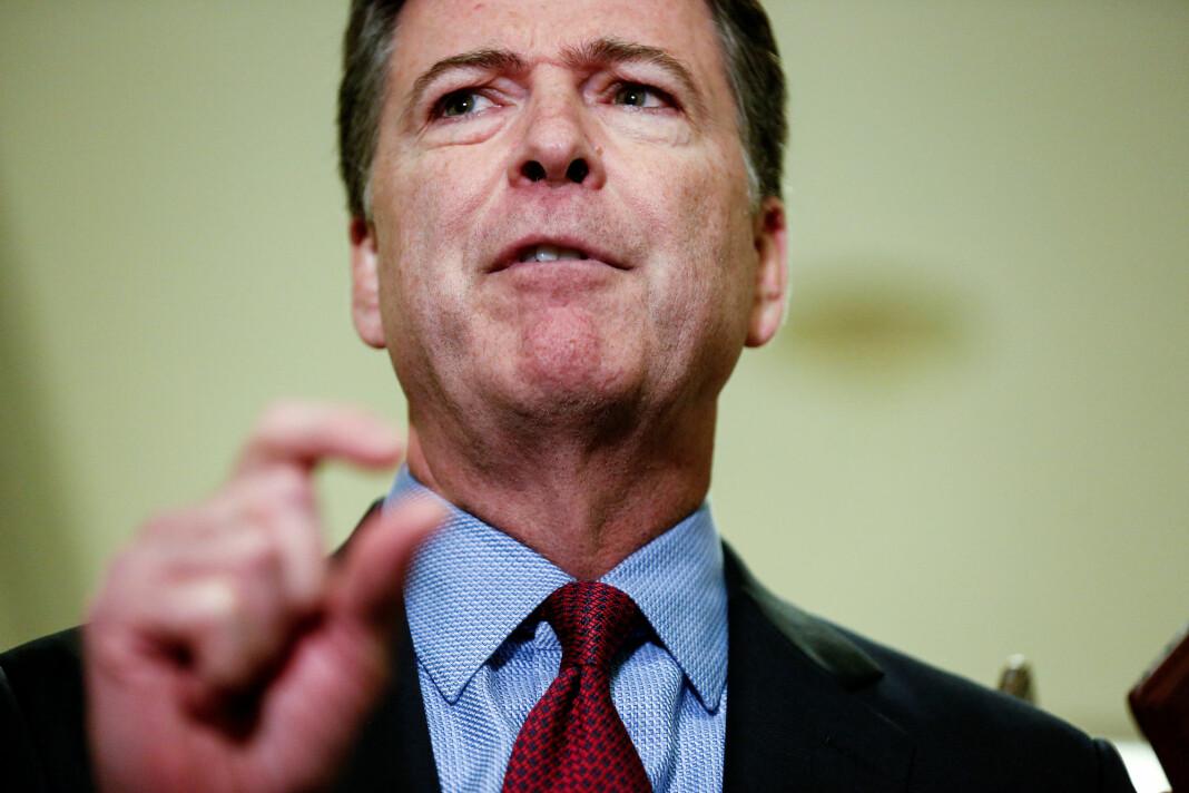 James Comey, tidligere FBI-sjef, får sterk kritikk i en ny granskningsrapport for å ha lekket notater fra en samtale med president Trump. Foto: Reuters / NTB scanpix