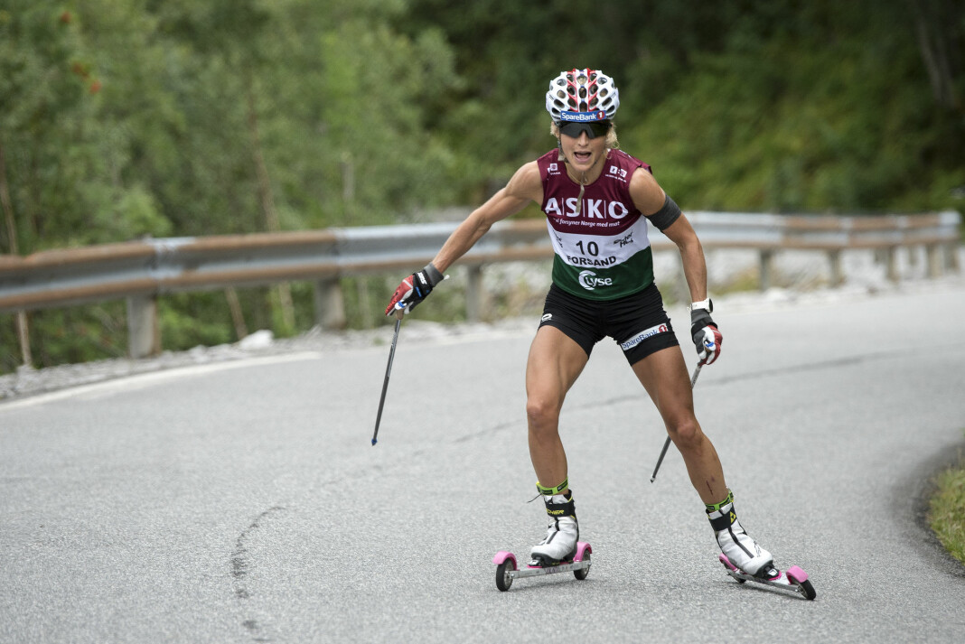 Storstjernen Therese Johaug i aksjon i Lysebotn opp. Det ga skyhøye seertall for NRK. Foto: Carina Johansen / NTB scanpix