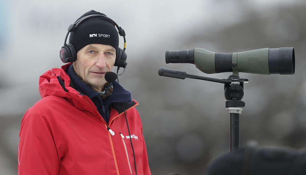 NRKs skiskytterekspert Ola Lunde sier nyheten om Halvard Hanevolds død kom som et sjokk Foto: Vidar Ruud / NTB scanpix