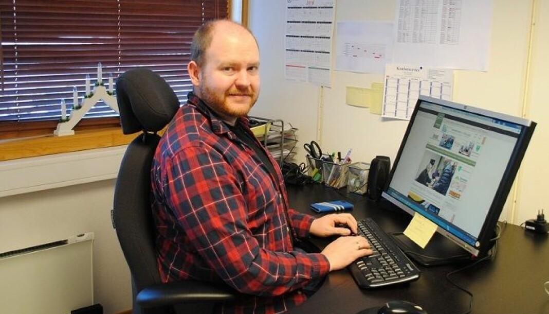 Øystein Hjelle Bondhus er skrivende redaktør og daglig leder i Trollheimsporten. Foto: Trollheimsporten