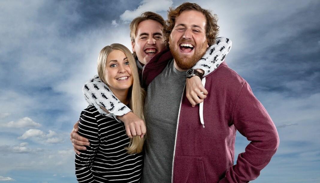 Silje Nordnes, Markus Neby og Ronny Brede Aase blir snart å høre i andre NRK-programmer. Foto: Kim Erlandsen/NRK