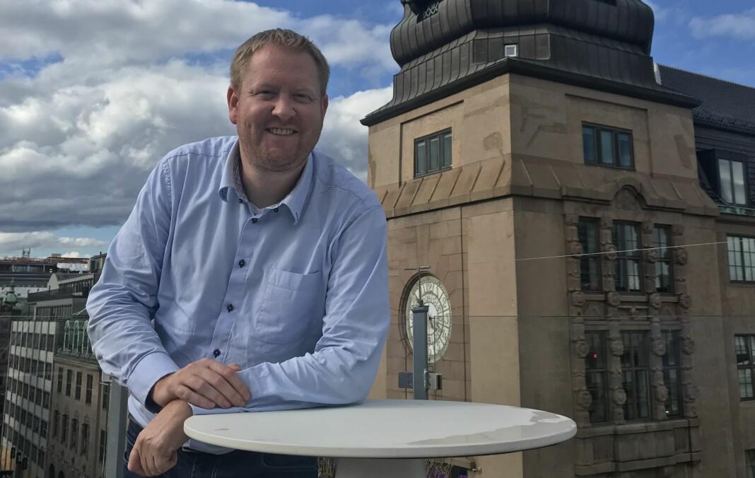 Styreleder Øystein Øygarden i Landslaget for lokalaviser er fornøyd med søkerlista til toppstillingen i organisasjonen. Foto: Geir K. Hus/LLA