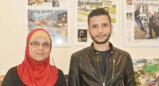 Drangedalsposten med «integreging i praksis»: Aisha og Najm skal lage saker på arabisk og norsk