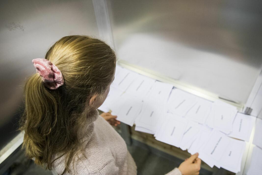 Kunnskapsminister Jan Tore Sanner (H) reagerer sterkt på at NRK har manipulert stemmegivningen foran skolevalget på Lillestrøm videregående skole. Illustrasjonsfoto: Håkon Mosvold Larsen / NTB scanpix