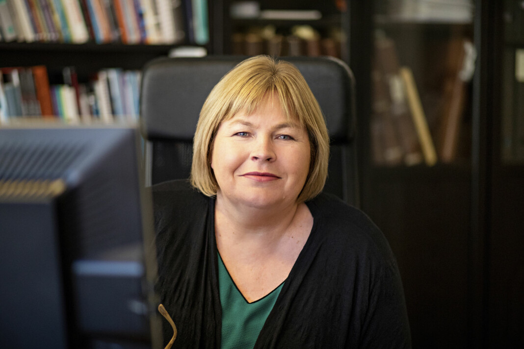 Generalsekretær Elin Floberghagen i Norsk Presseforbund sier hun i utgangspunktet reagerer negativt og kritisk til NRKs valgstunt. Foto: Thomas Brun / NTB scanpix