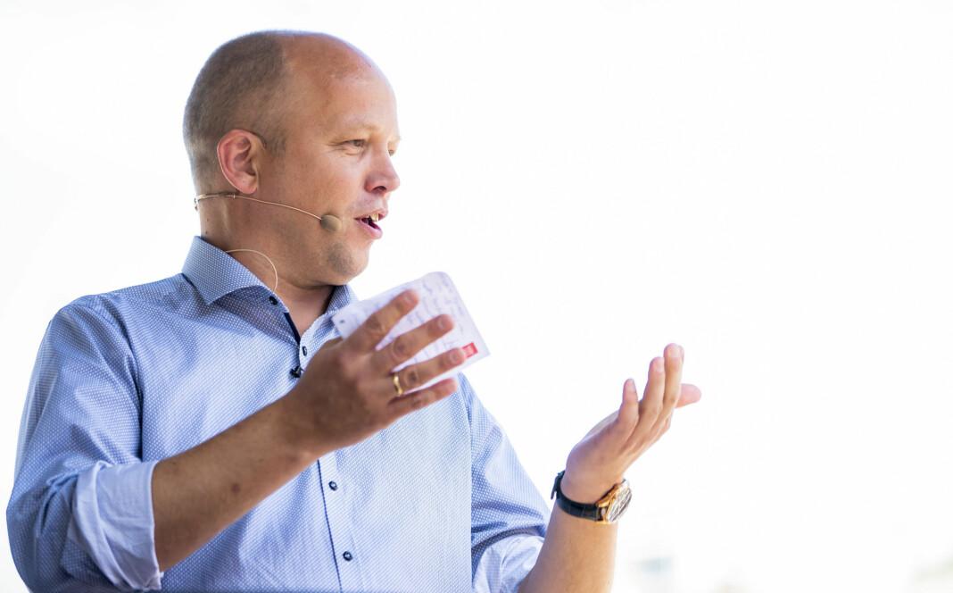 Sp-leder Trygve Slagsvold Vedum vil sette et tak på statens bruk av eksterne konsulenttjenester. Foto: Håkon Mosvold Larsen / NTB scanpix