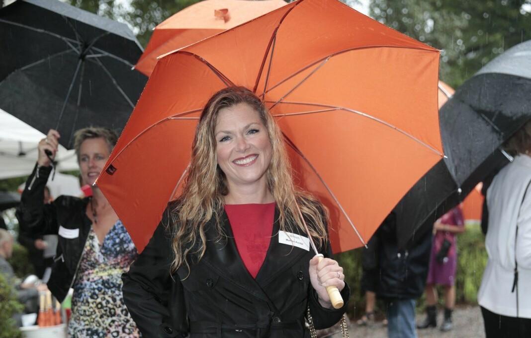 Dagbladets debattansvarlig Martine Aurdal, her på Aschehougs hagefest for noen år tilbake. Foto: Lise Åserud / NTB scanpix