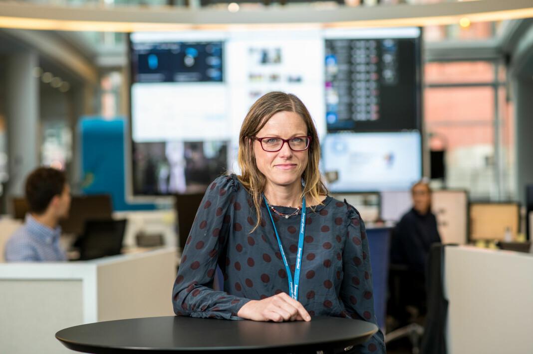 – Det er i bunn og grunn ikke hvilket parti du stemmer som gjør deg til en god journalist, sier Hilde Øvrebekk Lewis. Foto: Jarle Aasland / Stavanger Aftenblad