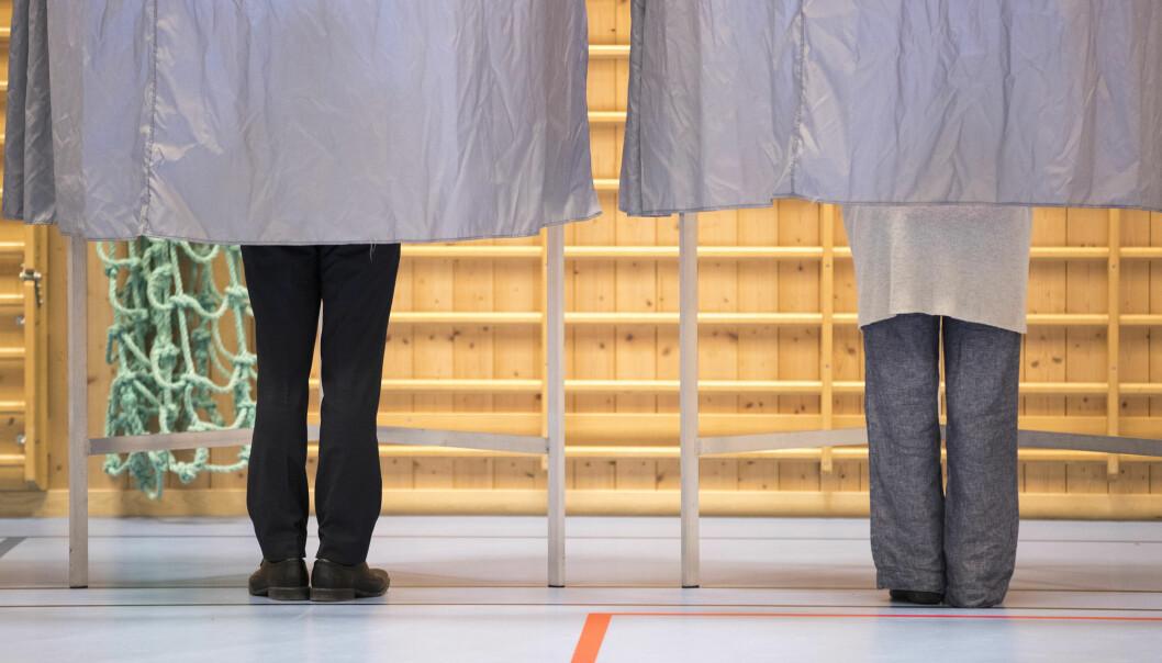Stemme eller ikke stemme? De journalistene og redaktørene Journalisten har intervjuet de siste ukene, velger det første. Foto: Terje Pedersen / NTB scanpix