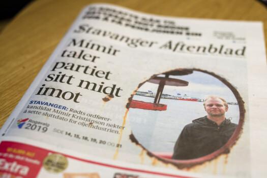 – Det kan nesten virke som om det er full splid i Rødt, sier Kristjánsson om onsdagens oppslag i Stavanger Aftenblad.