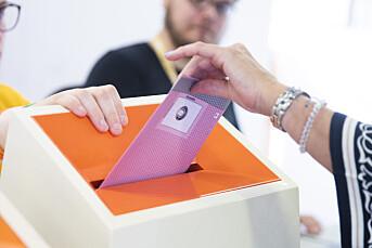 Valgpraten: Kun én av 11 Journalisten spurte vurderer å ikke stemme