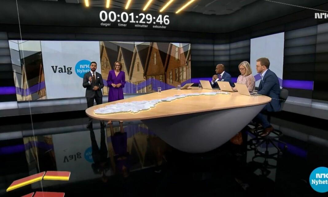 472.000 fulgte hvert minutt av valgsendingene på NRK1