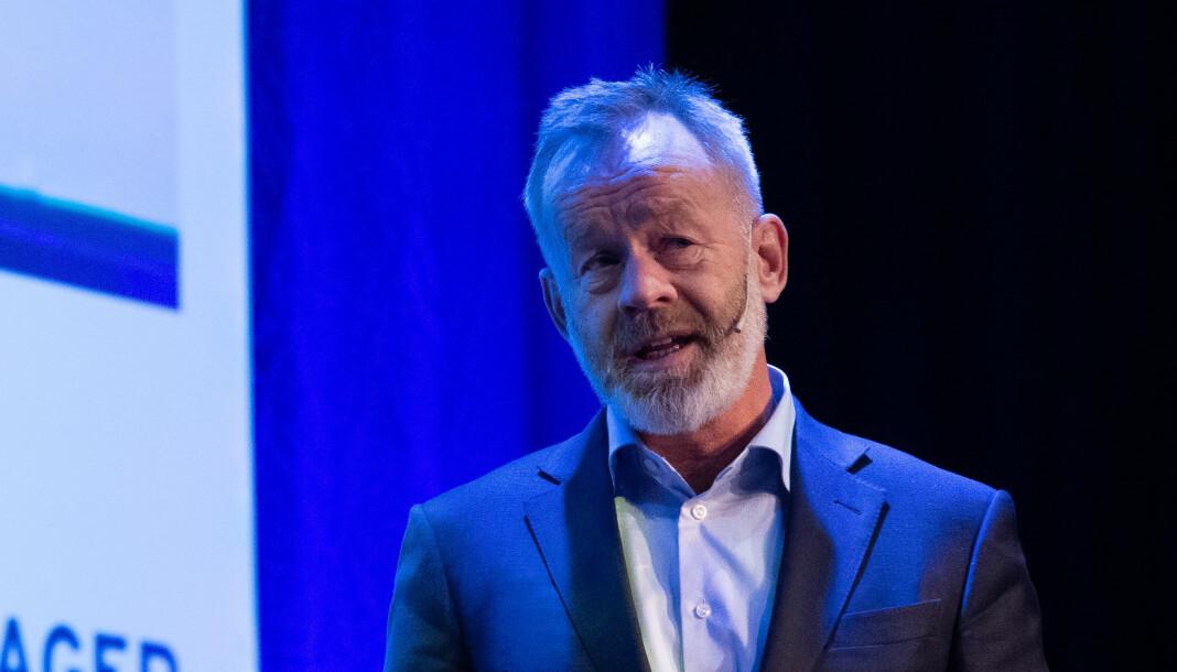 Amund Djuve, sjefredaktør og administrerende direktør i Dagens Næringsliv. Foto: Thor Brødreskift / CC BY-SA 2.0 / Nordiske Mediedager