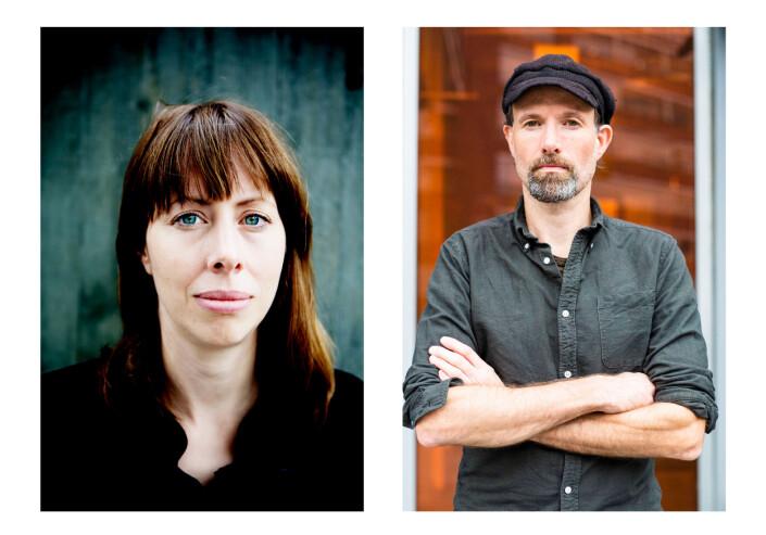 Anna B. Jenssen og klubbleder Jo T. Gaare. Foto: Fredrik Bjerknes og Kristine Lindebø