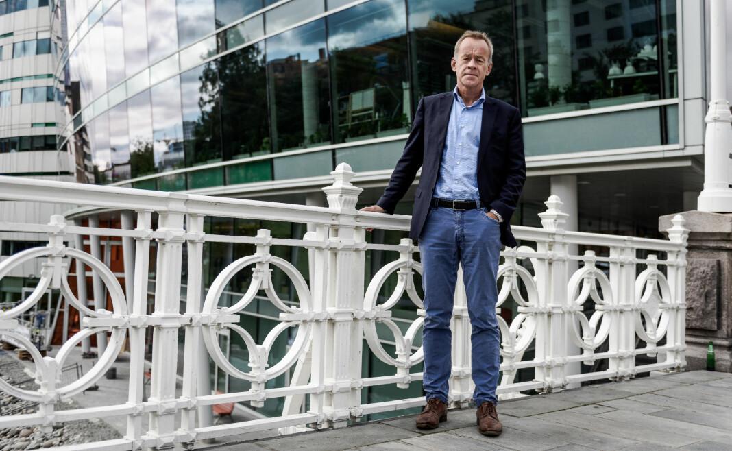 Amund Djuve, ansvarlig redaktør i Dagens næringsliv, vil fortsatt vinne Skup-priser. Og bli enda bedre lest på mobil. Foto: John Trygve Tollefsen