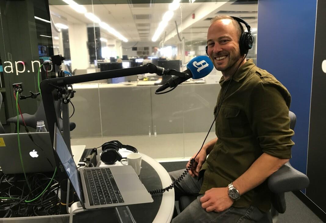 Andreas Bakke Foss er journalist i Aftenposten og programleder for avisas «Forklart»-podkast. Foto: Aftenposten
