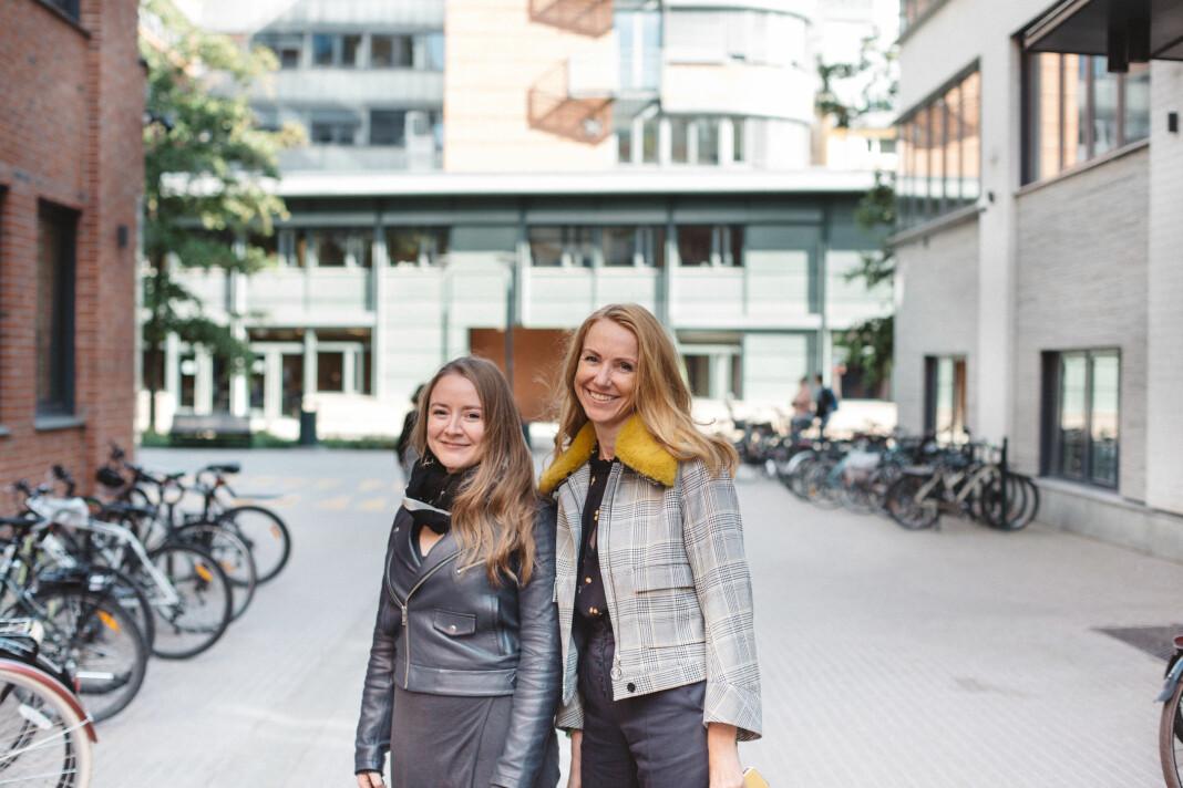Anja Sletteland og Kristin Skare Orgeret på Oslomet har analysert pressedekningen av dansevideoen. Foto: Marte Vike Arnesen