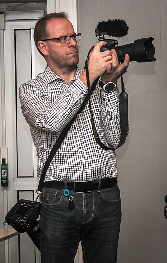 Øyvind Bratt, fotograf og altmuligmann i Rana Blad. Foto: Privat